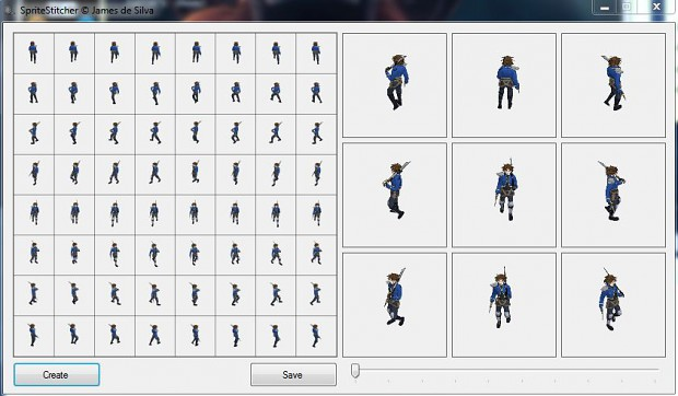 Sprite Sheet Stitcher - Quick Sprite Sheet Maker
