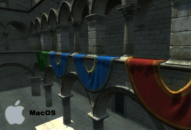 GameCore 3d Sponza demo (MacOS)