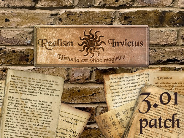 Realism Invictus 3.01 patch