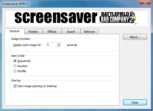 Screensaver - Bad Company 2 (English)