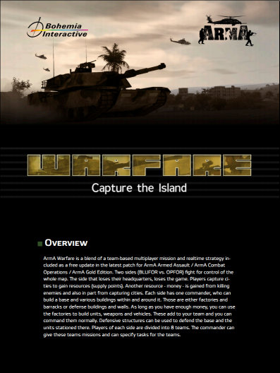ARMA Warfare Manual