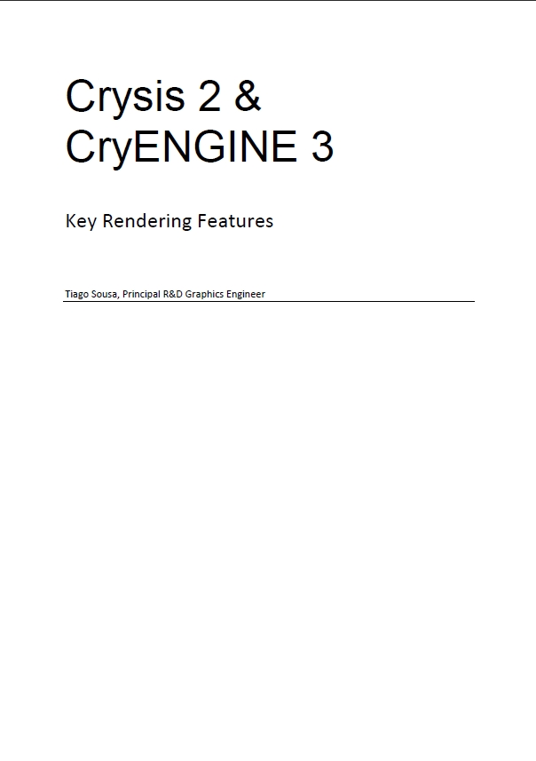 Key Rendering Features