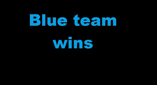 Blue team wins