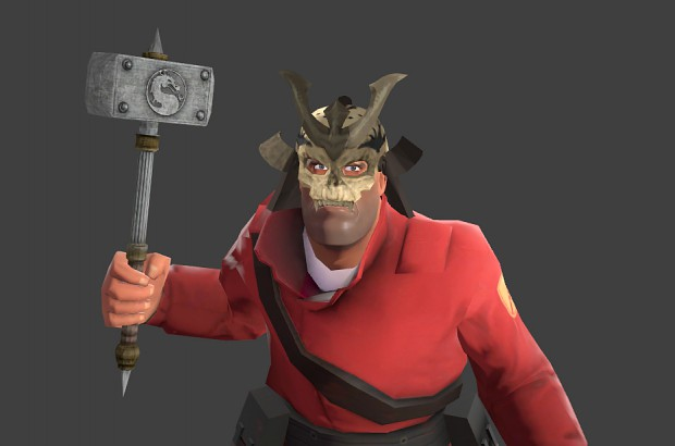 TF2 Soldier - Shao Kahn Hammer and Mask