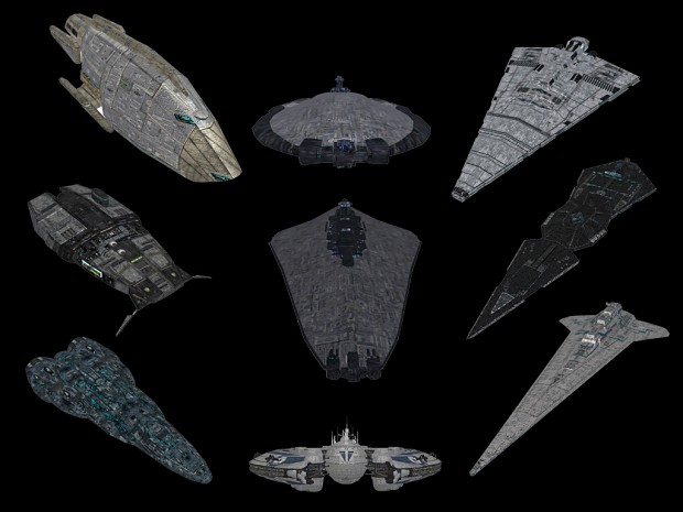 Rebel, Empire and Pirate models from Evillejedi