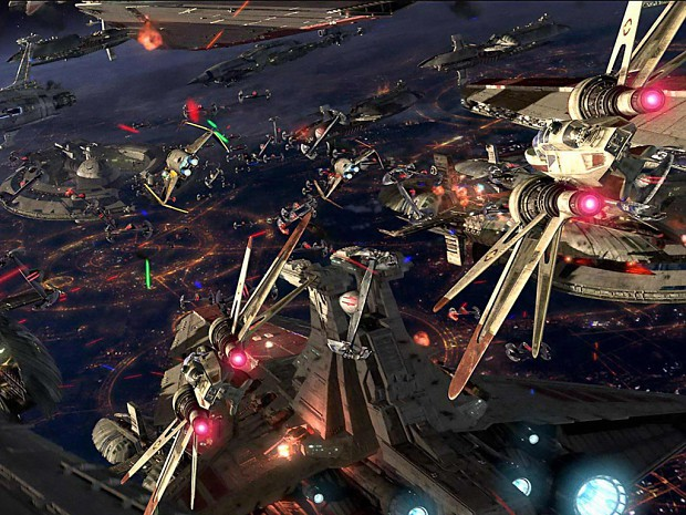 Space Battle above Coruscant