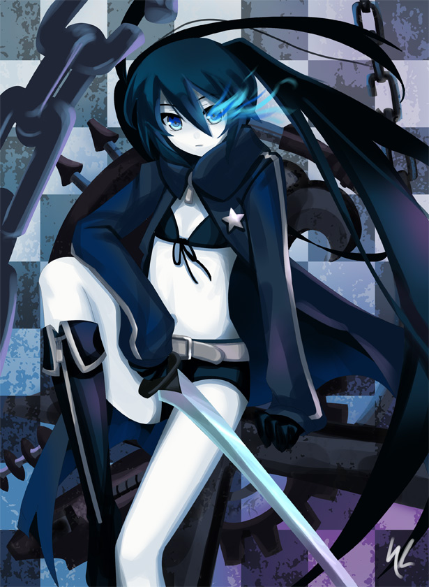 Black rock shooter and vocaloid pics