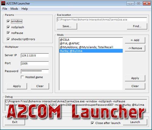 A2COM Launcher