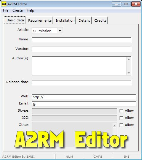 A2RM Editor