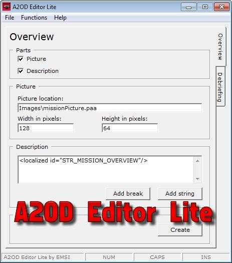 A2OD Editor Lite