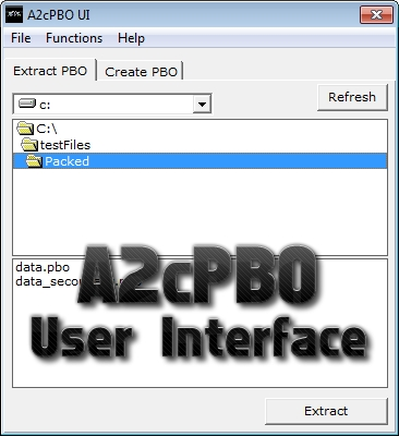 A2cPBO User Interface