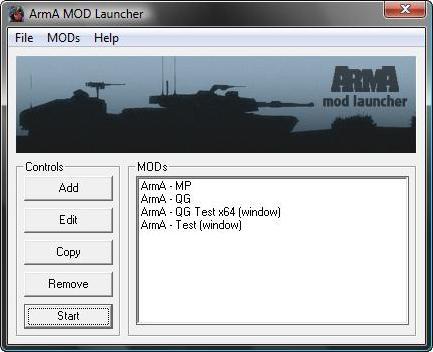 ArmA MOD Launcher