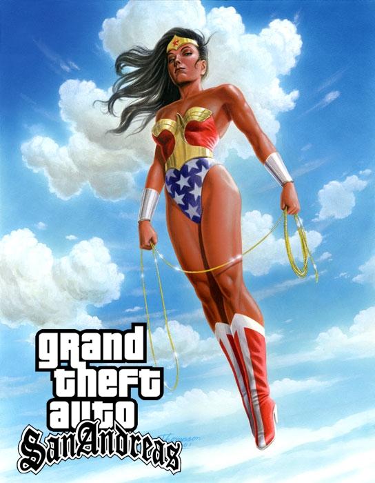 GTA SA Wonder Women MOD