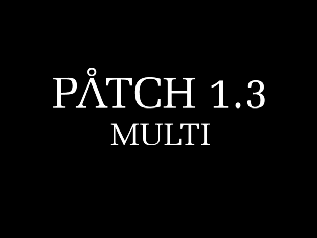 Patch 1.3