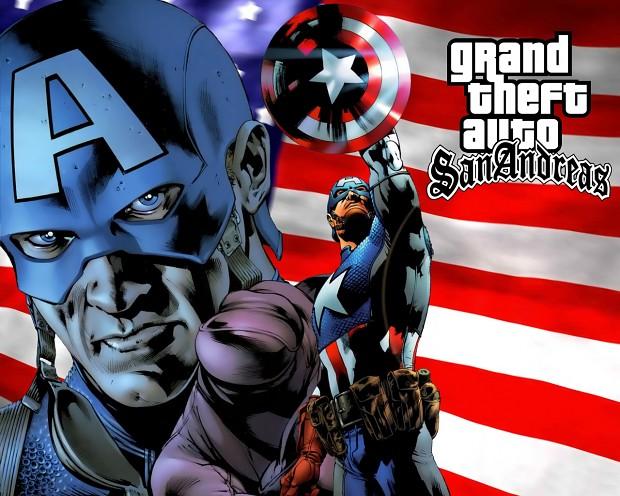 GTA SA Captain America mod