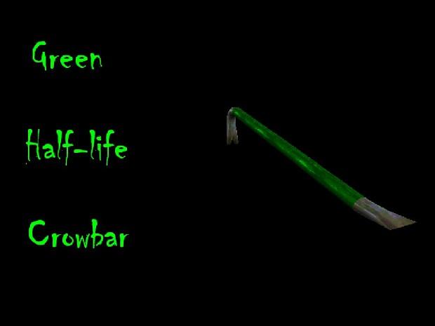 Green Half-Life Crowbar