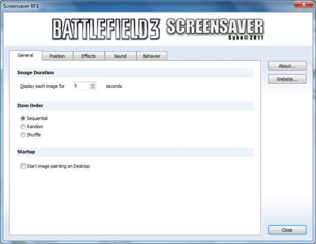 Screensaver Battlefield 3 (English)