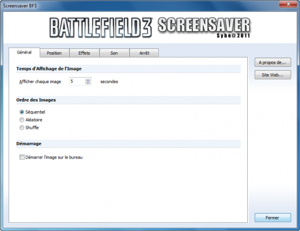 Screensaver Battlefield 3 (Francais)