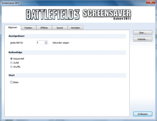 Screensaver Battlefield 3 (German)