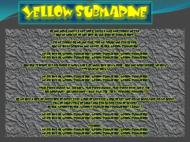 Yellow Submarine Beta