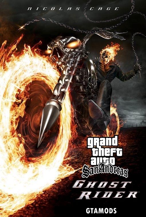 GTA SA GHOSTRIDER New MOD file - Grand Theft Auto: San