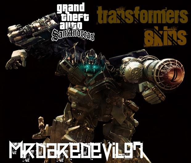 GTA SA transformers skins  MODS