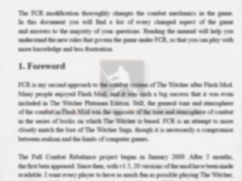 FCR v1.6 Manuals