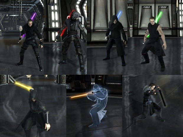 Deep color crystals and Apprentice's Dark costumes
