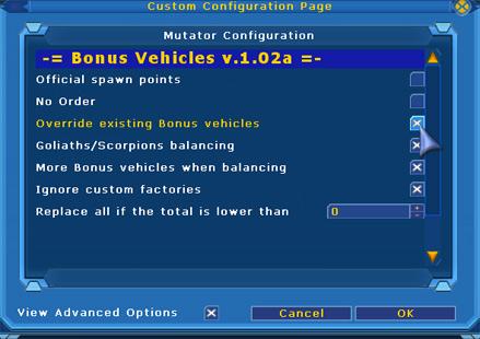 Bonus Vehicles Replacer