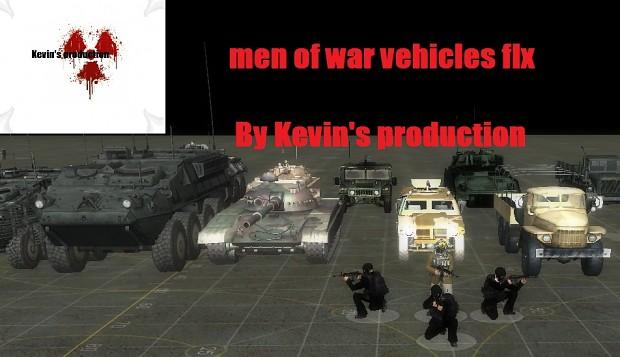 Men of war vehicles fix