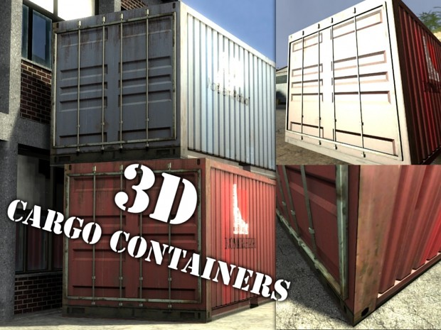 HD High-Poly Cargo Containers