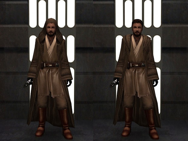 Kyle Katarn in Jedi robes