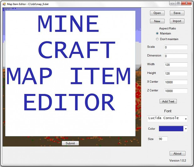 Minecraft map item editor