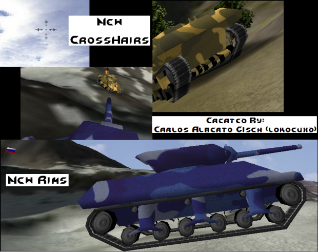 Real Tank Wheels and CrossHairs