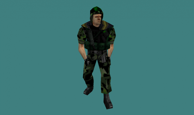 They Hunger Grunt with helmet Player Model