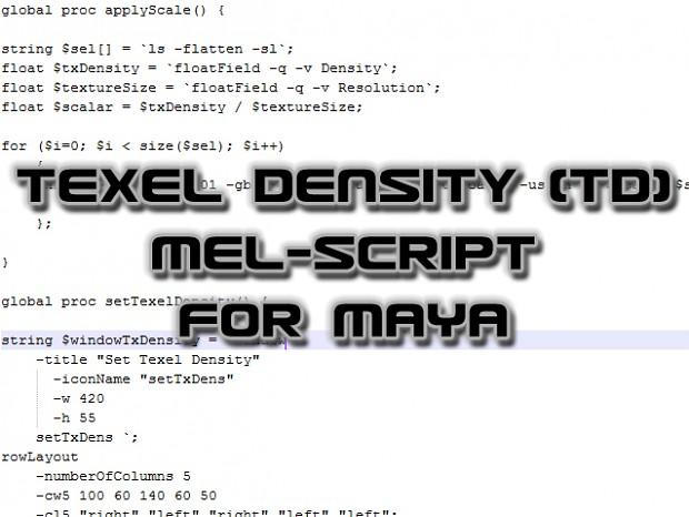 Maya: MEL Texel Density (TD) -script