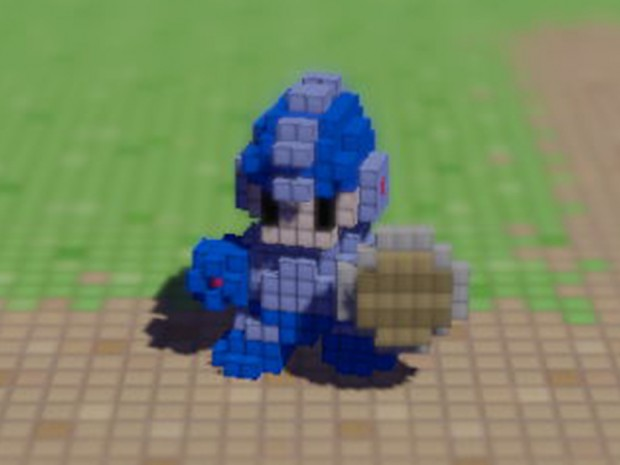 Megaman to 3D Dot Game Heroes!