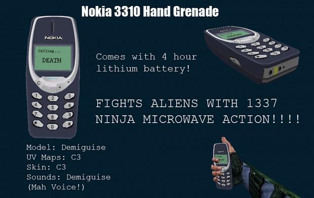 Nokia 3310 Hand Grenade