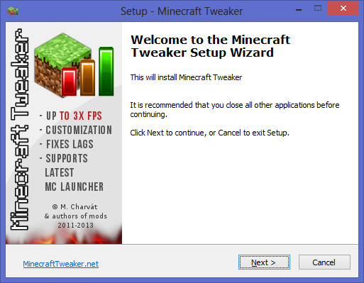 Minecraft Tweaker 1.7.4_9.2 Lite [NEW Launcher]