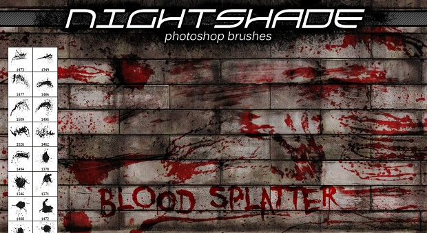 Nightshade blood splatter brushes