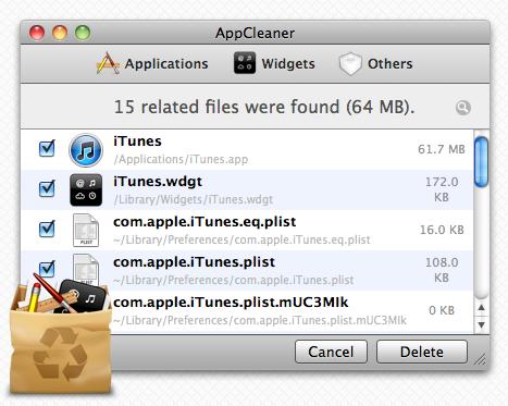 Appcleaner v1.2.2 for MAC OS X 10.4.+