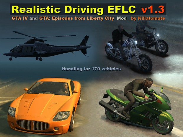 Realistic Driving and Flying EFLC 1.3