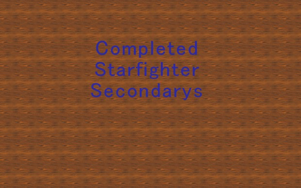 Starfighters With Secondarys