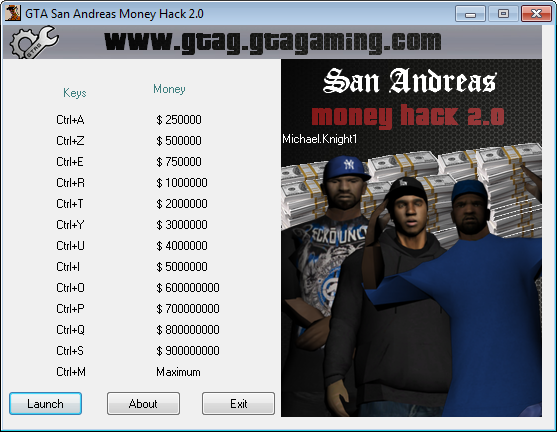 GTA San Andreas Money Hack 2.0