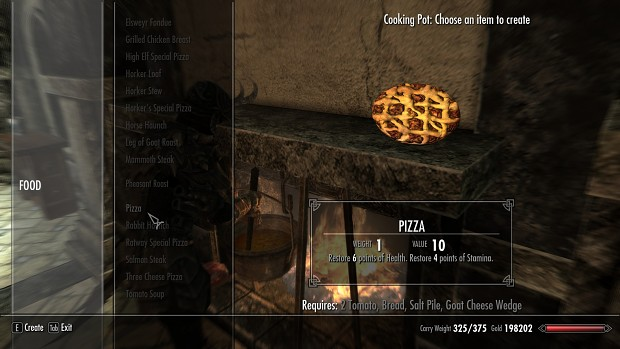 Skyrim Pizza