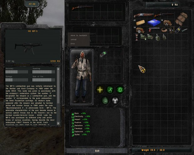 Patch for vanilla COP inventory non-widescreen