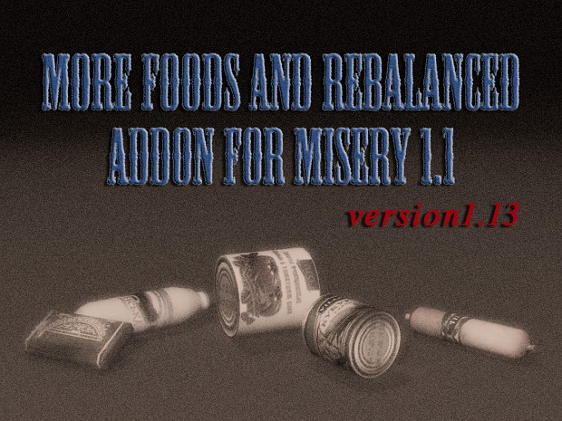 More foods and rebalanced addon for MISERY 1.1