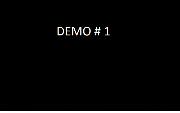 Demo #1 - Desktop