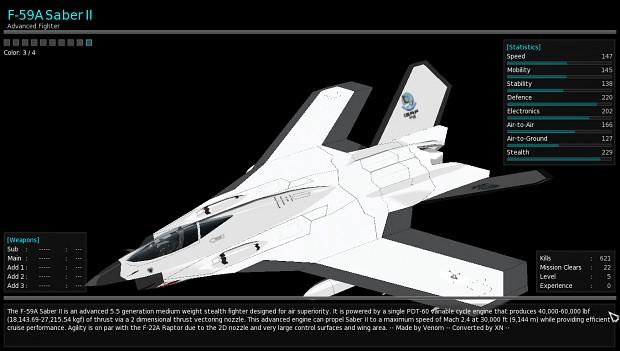 F-59A Saber II addon plane