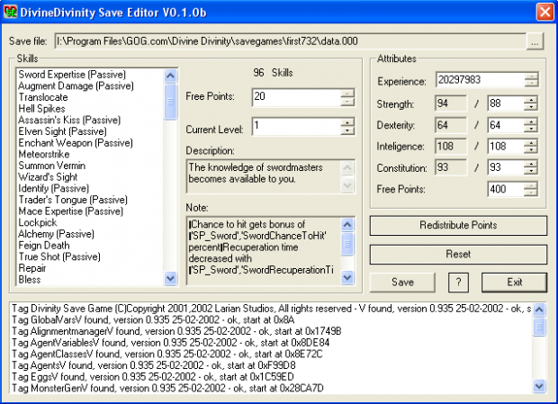 Save Editor v0.1.0b created by iZakaroN